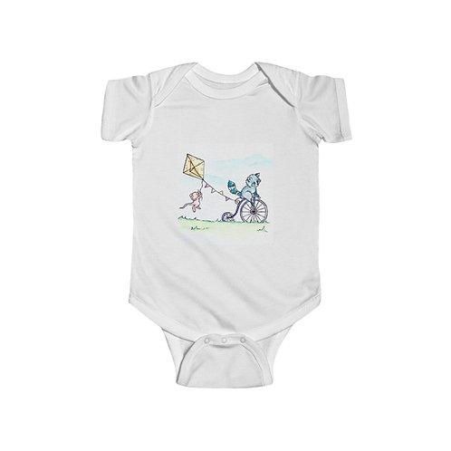 Raccoon & Mouse Infant Jersey Bodysuit