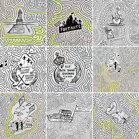 World's Largest Maze Doodles