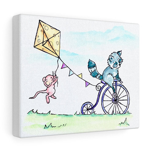 Raccoon & Mouse Canvas Gallery Wrap