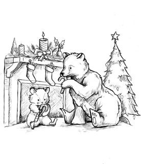 Christmas Critters Coloring & Activity Pages