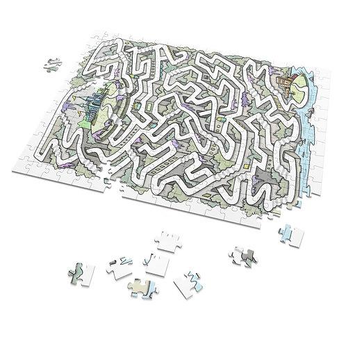 Puzzle Maze-Scapes: 252 Castle Puzzle