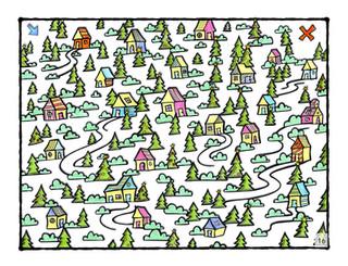 Christmas Town Maze
