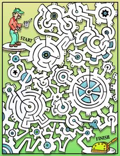 Sticky Gears Maze