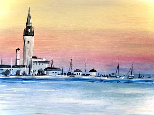 Grosse Pointe Yacht Club Painting Kit