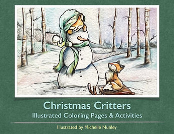 Christmas Critters Coloring Book