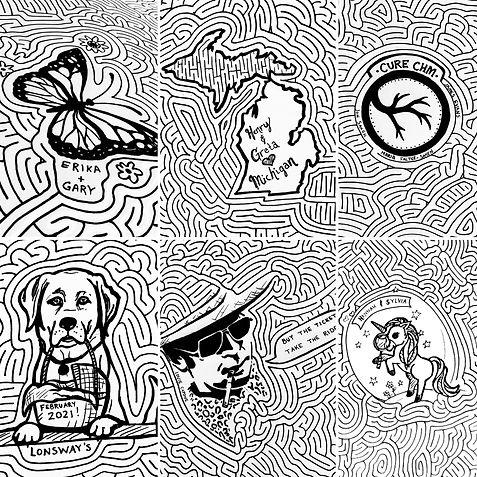 World's largest drawn maze doodles
