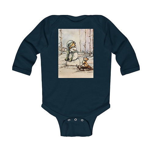 Christmas Critters: Infant Long Sleeve One Piece.