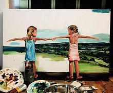Gracie & Lexie. These two cuties are the subject of my latest painting.jpg