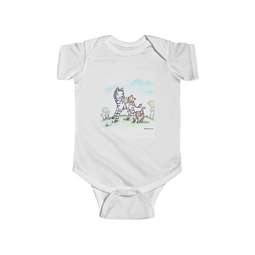 Zebra & Kittens Infant Jersey Bodysuit