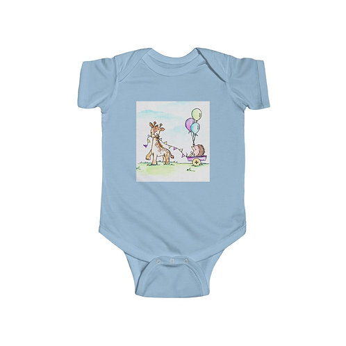 Giraffe & Hedgehog Infant Jersey Bodysuit