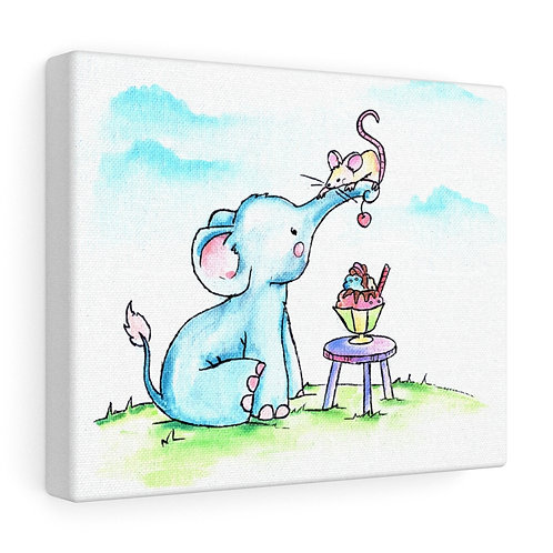 Elephant & Mouse Canvas Gallery Wrap