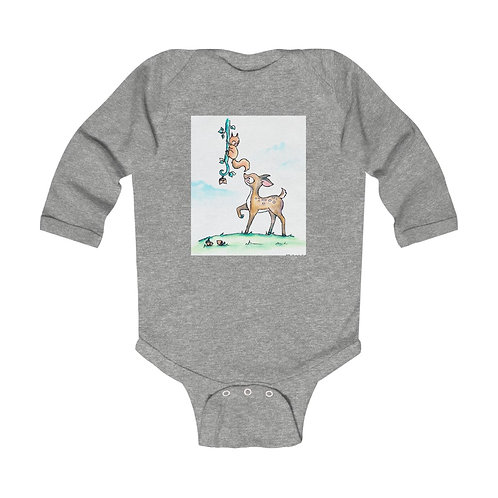 Fawn & Squirrel Infant Long Sleeve Bodysuit