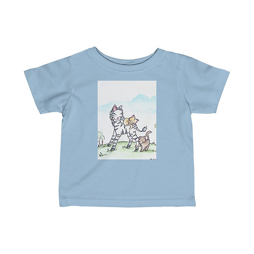 Zebra & Kittens Infant Jersey Tee