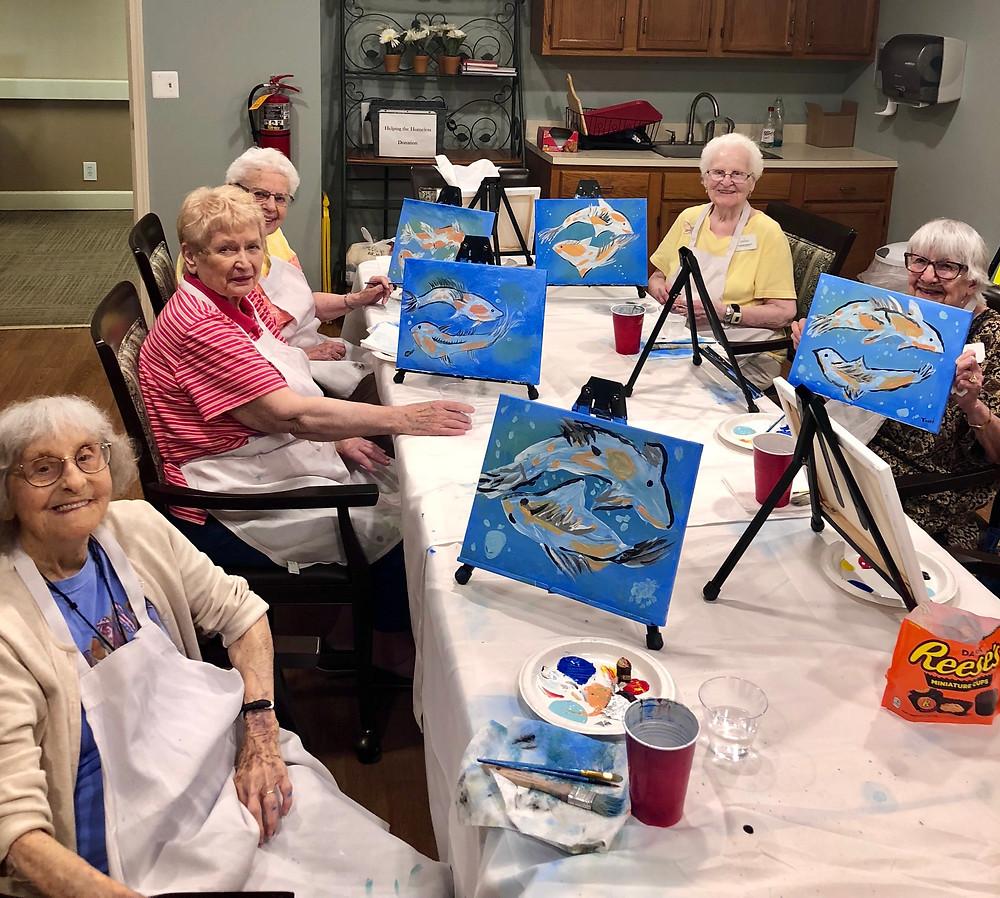 On The Gogh Senior Painting Class
