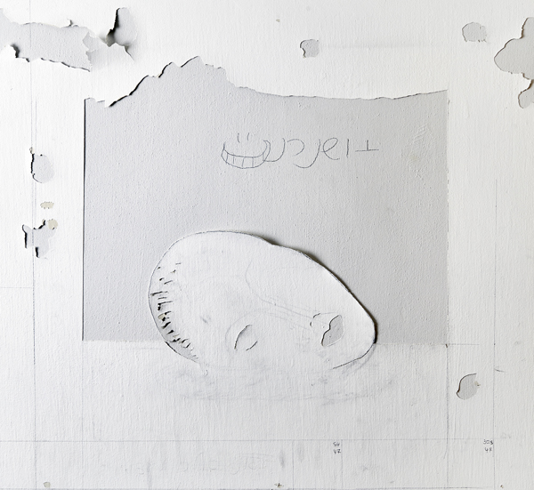 Untitled, 2016, wall engraving, 85X85 cm