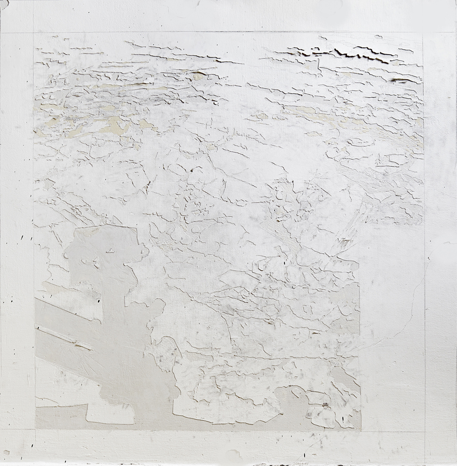 Untitled, 2016, wall engraving, 100X100 cm