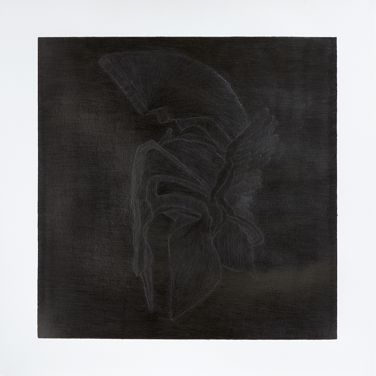 Untitled (Mercury), 2017, pencil on paper, 70x70 cm