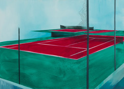 Untitled [net], 2016, oil on canvas, 110X80 cm