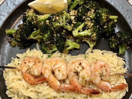 Roasted Shrimp Dinner