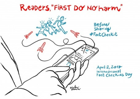 圖片來源:Artwork for International Fact-Checking Day by Gianluca Costantini