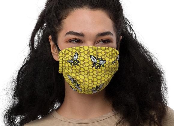 Bee Honeycomb Premium face mask