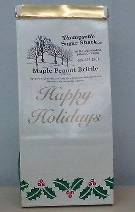 6 oz Maple Peanut Brittle - Happy Holiday