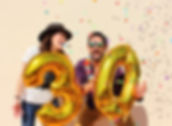 30 birthday party milestone foil helium number balloons