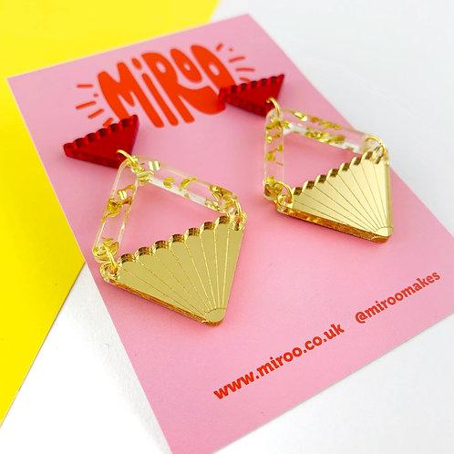 Evelyn earrings - gold & red