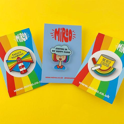 Rainbow Lover pin bundle
