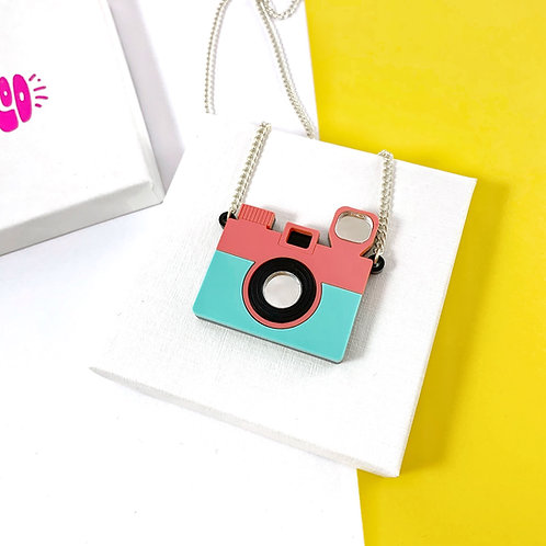 Small camera necklace