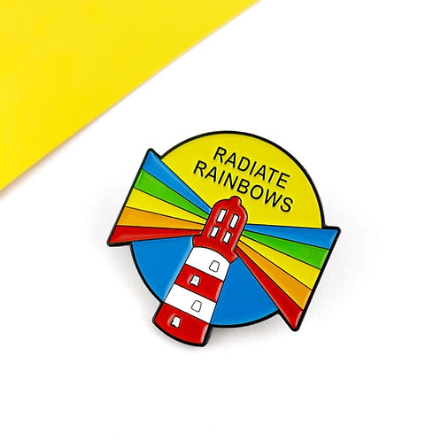 Radiate Rainbows enamel pin-