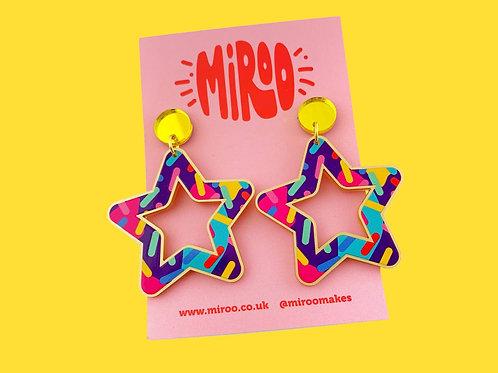 Confetti star earrings