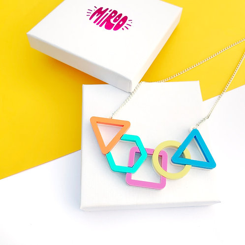 Pastel shapes necklace