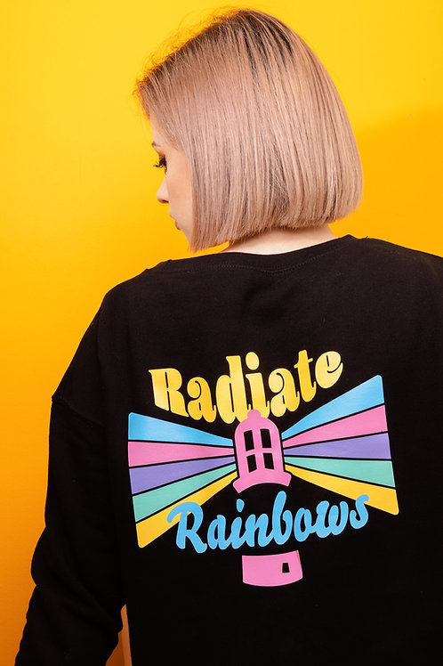 Radiate Rainbows cropped sweatshirt
