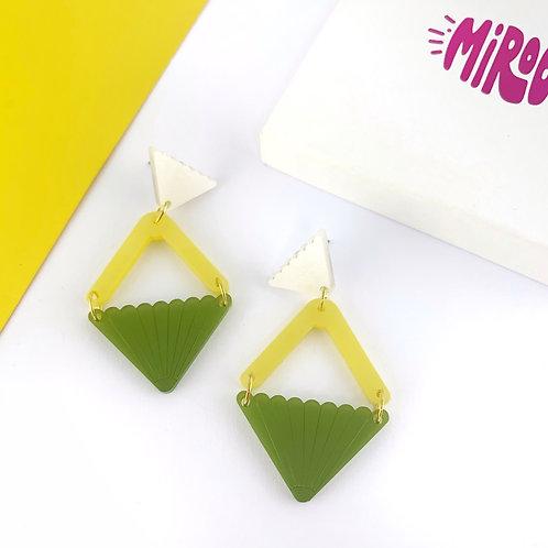 Green & yellow Evelyn earrings