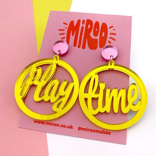 Playtime earrings - yellow