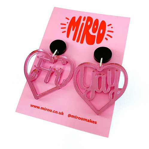 Fri-Yay earrings-Pink Mirror