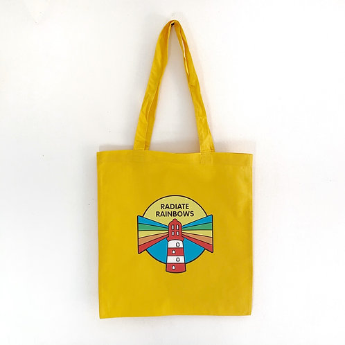 Radiate Rainbows tote bag - yellow