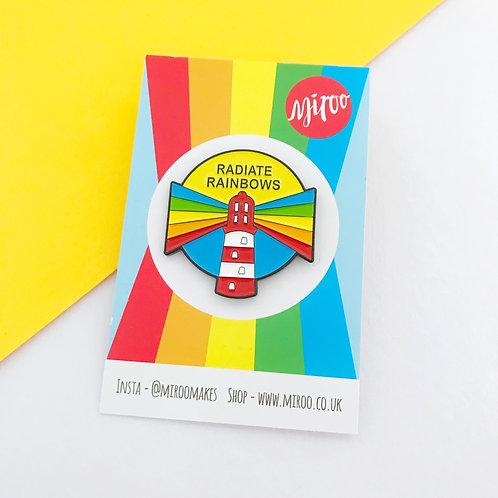 Radiate Rainbows enamel pin- SECONDS