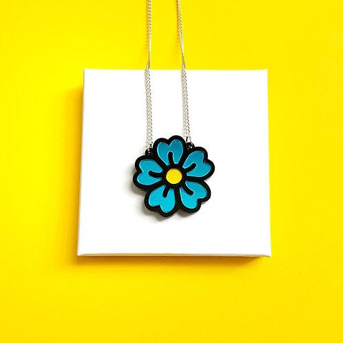 Pre-order 1-2 weeks Blue Flower Necklace