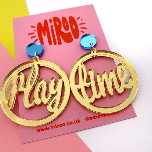 Playtime earrings - gold