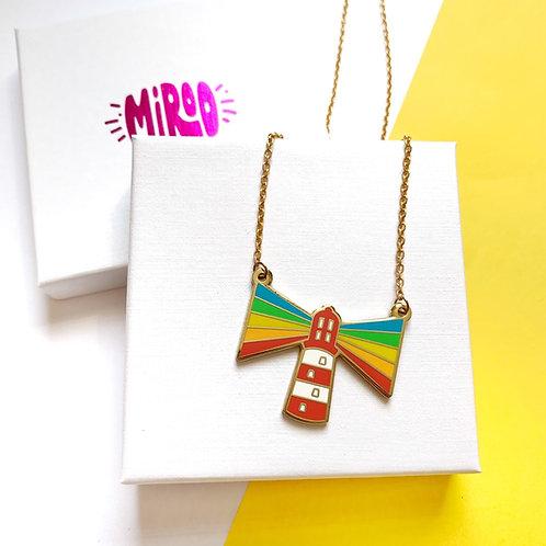Radiate Rainbow enamel necklace