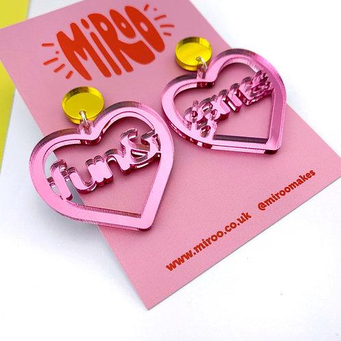 Fun & games earrings