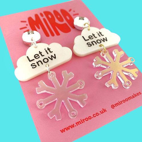 Let it snow earrings