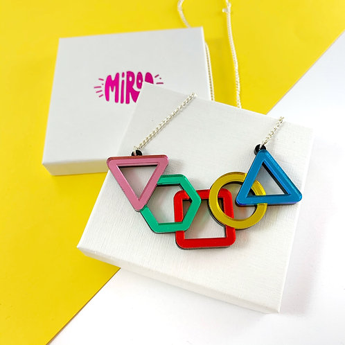 Mirrored Shapes Necklace