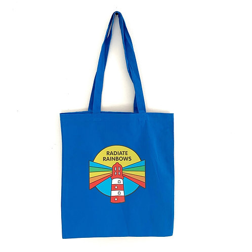 Radiate Rainbow tote bag - blue