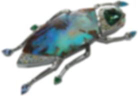 Schmuck-Käfer mit Opal