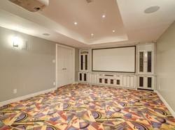 Custom Made Movie Theatre Cabinetry