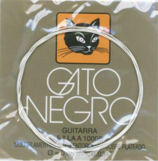 Juego cuerdas de guitarra Gato Negro