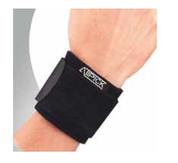 Muñequera de Neopreno con Velcro Ajustable- Negro
